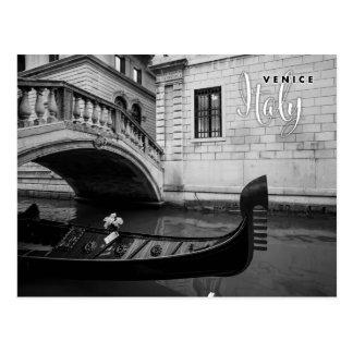 Gondol i den Venedig italien Vykort