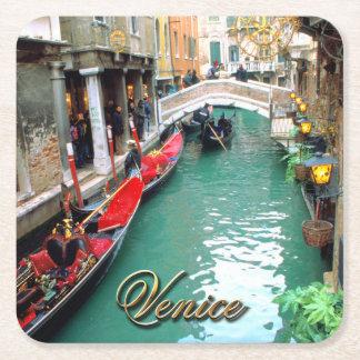 Gondoler på en Venetian kanal Underlägg Papper Kvadrat
