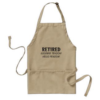 Goodbye förkläde för BBQ för pension för