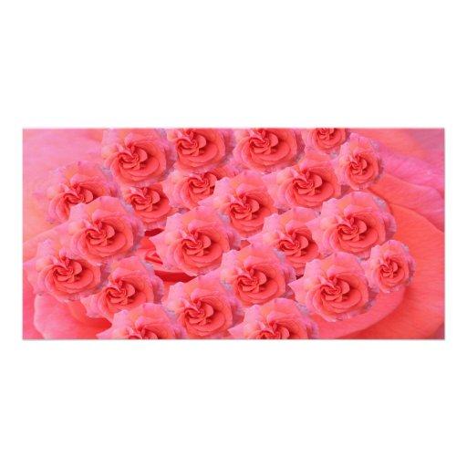 Goodluck meddelande med blommor fotokort mall