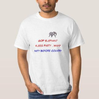 """"""""""" Gop-elefanten flyr """""""" partyet för land"""""""" TShirt Tee"""