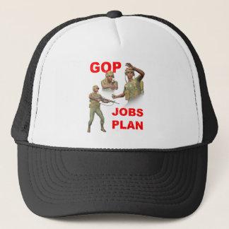 GOP republikaner, jobb planerar Truckerkeps