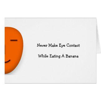 Gör aldrig ögat. Den roliga citationsteckenspetsen Hälsningskort