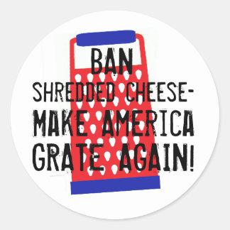 Gör Amerika osttrumf för spisgallret igen den Runt Klistermärke