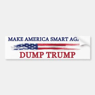 Gör Amerika smart igen för att dumpa trumf Bildekal