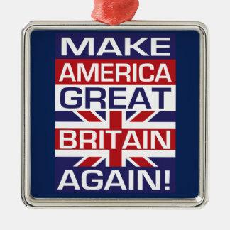 Gör Amerika Storbritannien igen! Julgransprydnad Metall