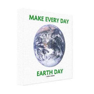 Gör den dagliga jorddagen (blåttmarmorjord) canvastryck