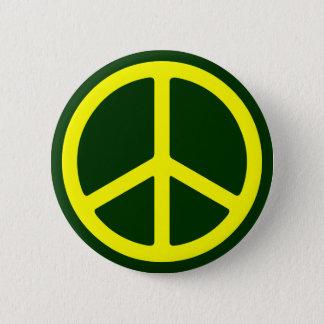 Gör den gula fredsteckenet Pinback tunnare Standard Knapp Rund 5.7 Cm