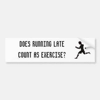 Gör den sena räkningen för spring som övar? bildekal