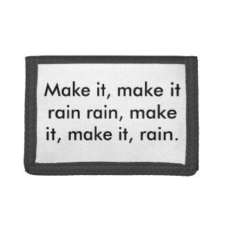 Gör det att regna plånboken