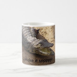 Gör det den kvicka krokodilmuggen kaffemugg