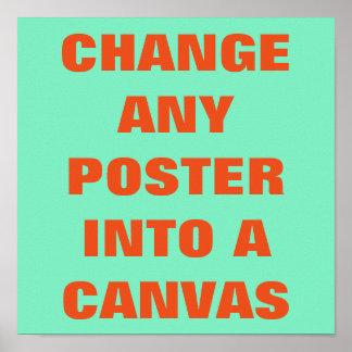 GÖR DET DIG ~-affischen/ÄNDRING TILL en KANFAS Affischer