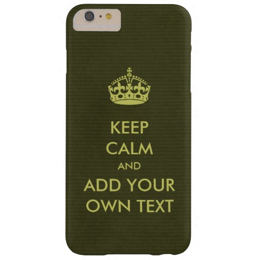 Gör din egna behålla att lugna olivgrön limefrukt barely there iPhone 6 plus skal