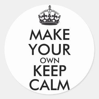 Gör din egna behållalugn - svart klistermärken