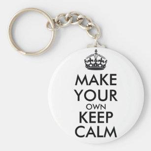 Gör din egna behållalugn - svart rund nyckelring ba7679743333a