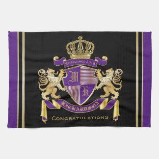 Gör din egna Emblem för vapensköldMonogramkronan Kökshandduk