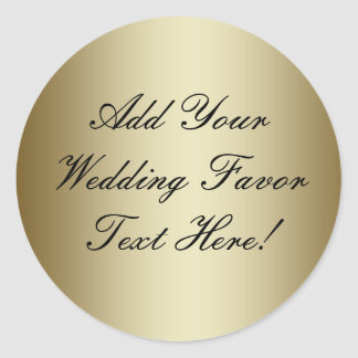 Gör din egna guld- bröllopfavör runt klistermärke