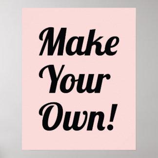 Gör din utskrivavna egna anpassningsbar affisch