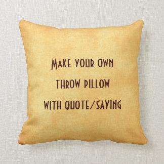 Gör ditt eget att kudde med citationstecken eller