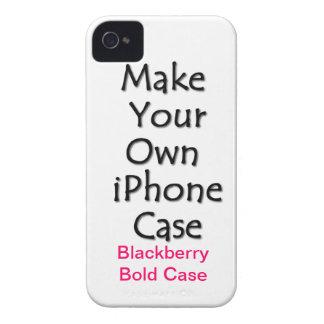 Gör ditt egna blackberry boldfodral iPhone 4 fodral