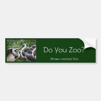 Gör du zooen? Sugrör-hånglade Ibis Bildekal