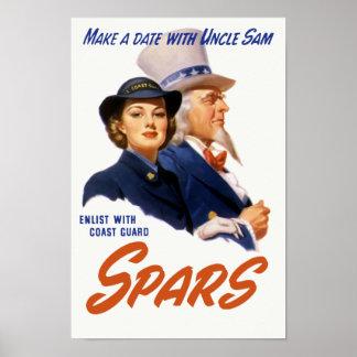 Gör en datera med Uncle Sam -- Kustbevakning Poster