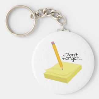 Gör en notera nyckel ring