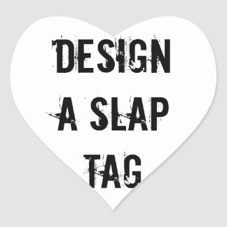 Gör en smäll att märka designklistermärken hjärtformat klistermärke