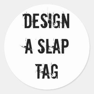 Gör en smäll att märka designklistermärken runt klistermärke