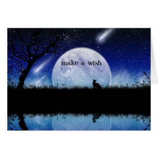 Gör en Wish på ett stjärnafödelsedagkort OBS Kort