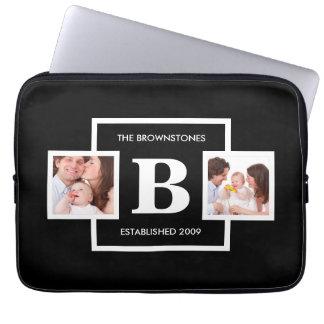 Gör ett beställnings- foto och Monogramlaptop Laptop Datorfodral