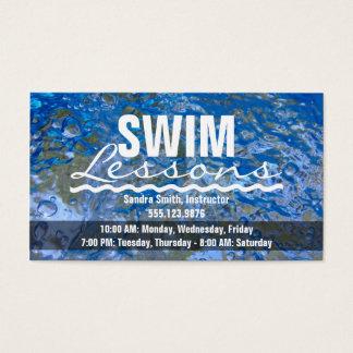 Gör ett Sparkling blåttvatten för stänk att simma Visitkort