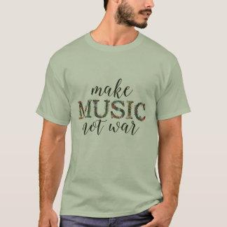 Gör för krigblommigten för musik inte skjortan t-shirts