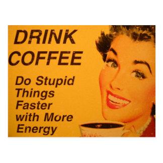 Gör för vintagekaffe för dumma saker snabbare vykort