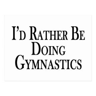 Gör ganska gymnastik vykort