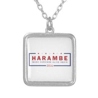 Gör Harambe vid liv igen Silverpläterat Halsband
