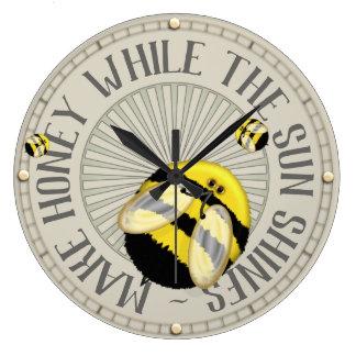 Gör honungBeekeeping Stor Klocka