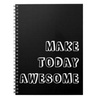 Gör i dag det enorma citationstecknet anteckningsbok