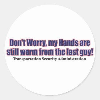 Gör inte - bekymmer runt klistermärke
