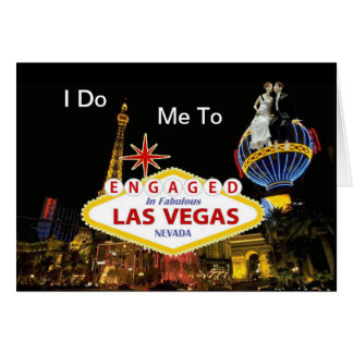 """""""Gör jag, mig"""" som är förlovad i det Las Vegas kor Hälsningskort"""