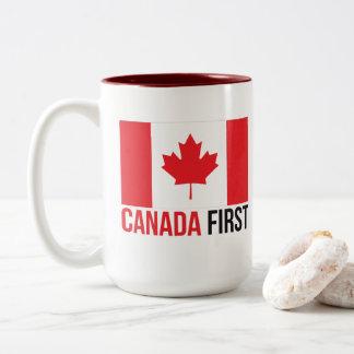 Gör Kanada den underbara igen kanadensare först Två-Tonad Mugg