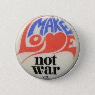 Gör kärlek att inte kriga Sixties som fred knäppas Standard Knapp Rund 5.7 Cm