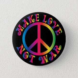 Gör kärlek att inte kriga standard knapp rund 5.7 cm