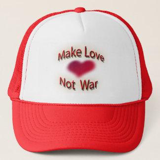 gör kärlek att inte kriga truckerkeps