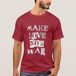 Gör kärlek att inte kriga tshirts