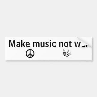 Gör krig för musik inte bildekal