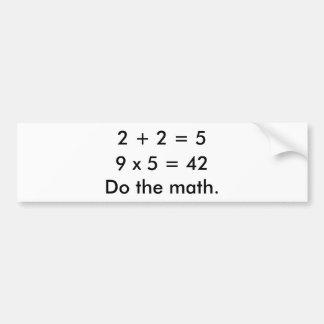 Gör mathen bildekal