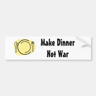 Gör middagen att inte kriga! bildekal