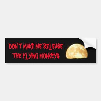 Gör mig att frigöra flygaporna med månen bildekal