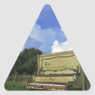 Gör mig en instrumentera triangelformat klistermärke